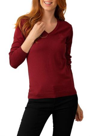 Пуловер U.S. Polo Assn.. Цвет: kr0215 бордовый