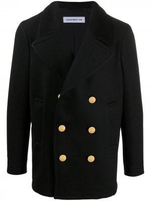 Двубортный пиджак в стиле милитари Department 5. Цвет: черный