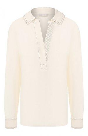 Блузка из вискозы By Malene Birger. Цвет: белый