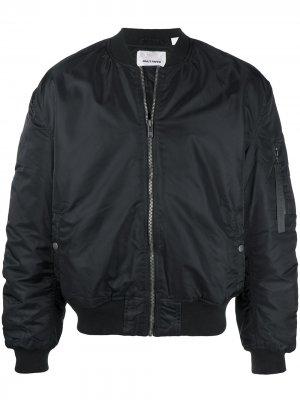 Куртка-бомбер с вышитым логотипом Daily Paper. Цвет: черный