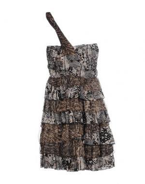Короткое платье EIGHTH SIN. Цвет: черный