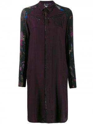 Платье-рубашка с принтом A.F.Vandevorst. Цвет: фиолетовый