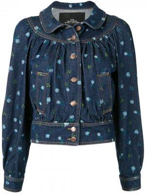 Джинсовая куртка с цветочным принтом The Marc Jacobs. Цвет: синий