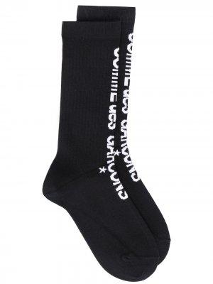 Носки с логотипом Comme Des Garçons. Цвет: черный