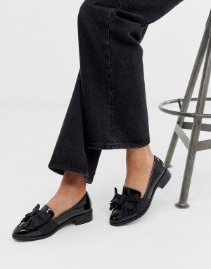 Черные туфли на плоской подошве Matchsticks-Черный ASOS DESIGN