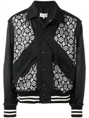 Куртка-бомбер с контрастными панелями Maison Margiela