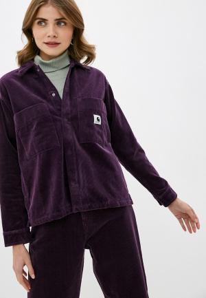 Рубашка Carhartt WIP. Цвет: фиолетовый