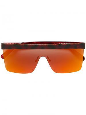 Массивные солнцезащитные очки-авиаторы Stella McCartney Eyewear. Цвет: красный
