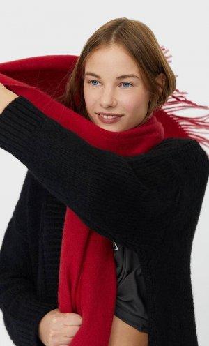 Базовый Шарф Женская Коллекция Темно-Красный 103 Stradivarius. Цвет: темно-красный