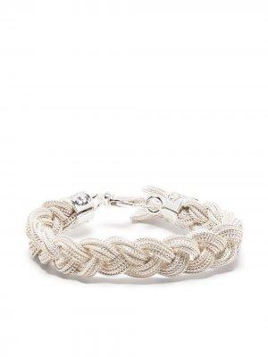 Плетеный браслет Emanuele Bicocchi. Цвет: белый