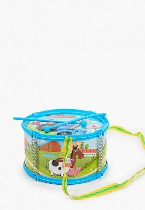 Игрушка Играем Вместе Синий трактор. Барабан, 9х18 см. Цвет: разноцветный