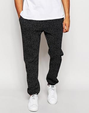 Спортивные брюки в крапинку American Apparel. Цвет: черный