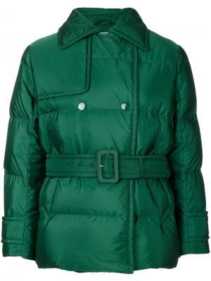 Стеганая куртка-бомбер Prada. Цвет: зеленый