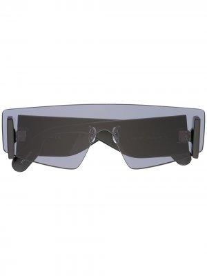 Солнцезащитные очки в безободковой оправе Kenzo. Цвет: черный