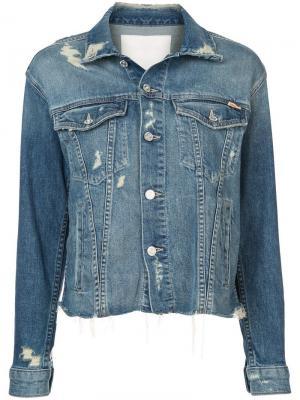Джинсовая куртка с прорехами Mother. Цвет: синий
