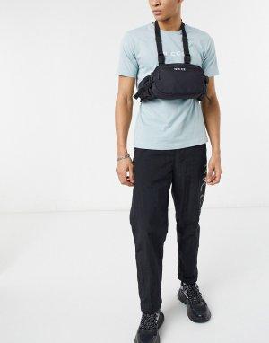 Черная сумка-кошелек с ремешком через шею и логотипом -Черный Nicce