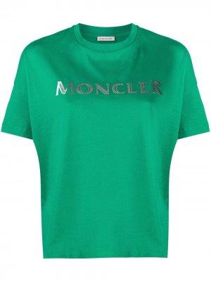 Футболка с логотипом Moncler. Цвет: зеленый