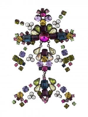 Декорированная брошь 2000-х годов Gianfranco Ferré Pre-Owned. Цвет: фиолетовый