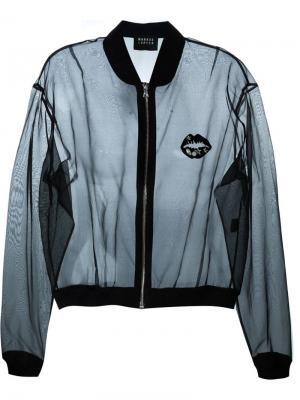 Сетчатая куртка-бомбер Markus Lupfer. Цвет: чёрный