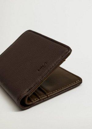 Фактурный бумажник с карманом - Elastic Mango. Цвет: коричневый