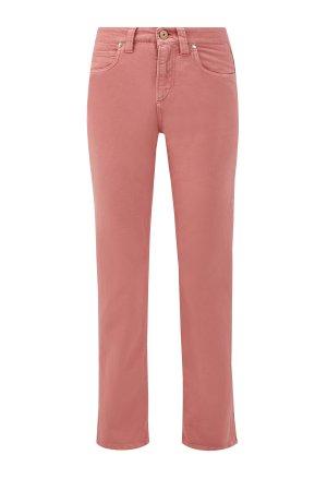 Укороченные джинсы из хлопкового денима Soft BRUNELLO CUCINELLI. Цвет: розовый