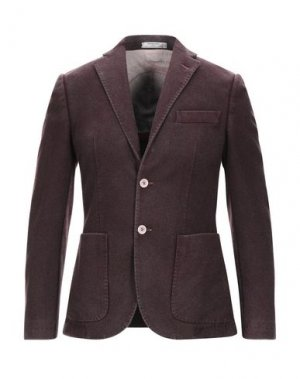 Пиджак MANUEL RITZ WHITE. Цвет: баклажанный