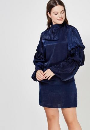 Платье LOST INK LAYERED SLEEVE SHIFT DRESS. Цвет: синий