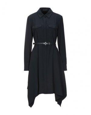 Короткое платье ELIE TAHARI. Цвет: темно-синий