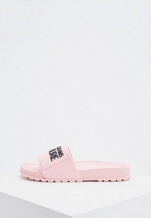Сланцы Versace Jeans Couture. Цвет: розовый
