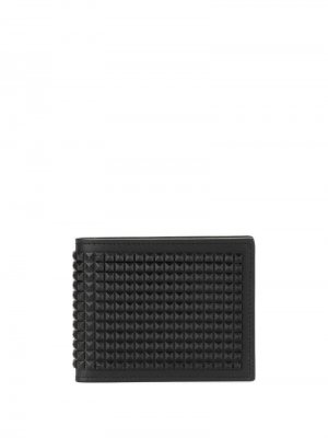Бумажник с заклепками Giuseppe Zanotti. Цвет: черный