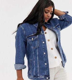 Синяя джинсовая куртка New Look Curve-Синий Plus