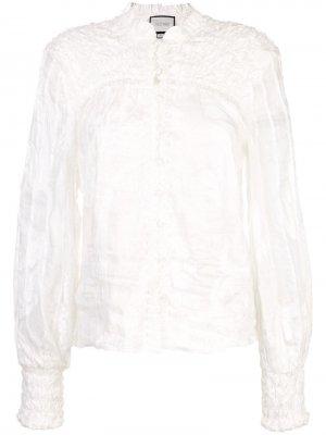 Блузка Bismarck с вышивкой Alexis. Цвет: белый
