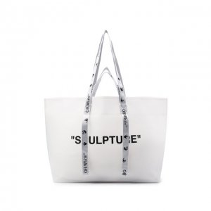Сумка-шопер Sculpture Off-White. Цвет: белый