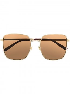 Oversize frame sunglasses Gucci Eyewear. Цвет: золотистый