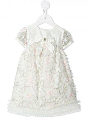Платье с вышивкой Lesy. Цвет: белый