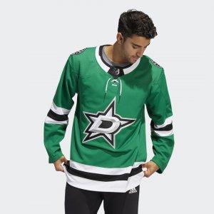 Оригинальный хоккейный свитер Stars Home Performance adidas. Цвет: зеленый