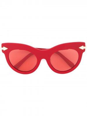 Солнцезащитные очки Miss Lark Karen Walker. Цвет: красный