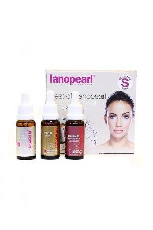 Набор антивозрастных сывороток Lanopearl. Цвет: бежевый