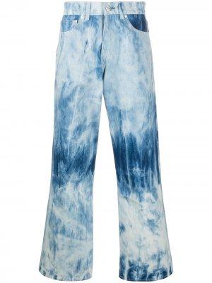 Широкие джинсы с принтом тай-дай Our Legacy. Цвет: синий