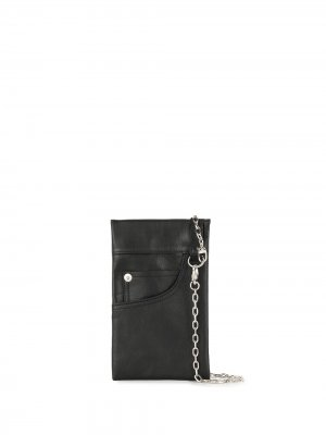 Кошелек в форме кармана Yohji Yamamoto. Цвет: черный