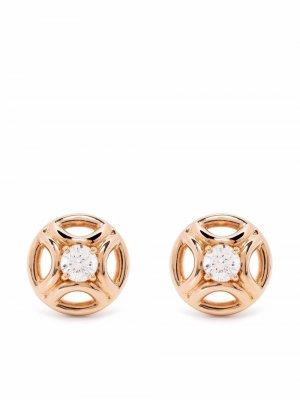 Серьги из переработанного золота с бриллиантом Loyal.e Paris. Цвет: розовый
