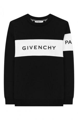 Хлопковый свитшот Givenchy. Цвет: черный