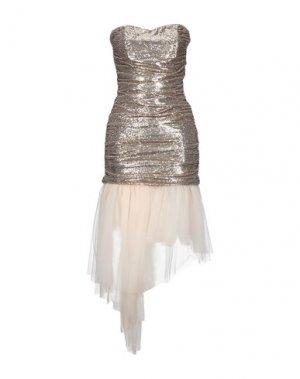 Короткое платье SPACE SIMONA CORSELLINI. Цвет: золотистый