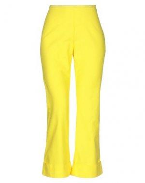 Повседневные брюки HACHE. Цвет: желтый