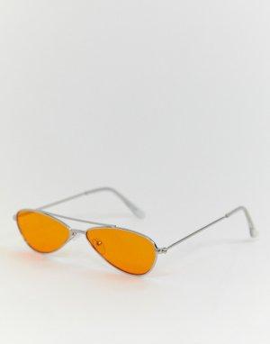 Овальные солнцезащитные очки AJ Morgan. Цвет: оранжевый