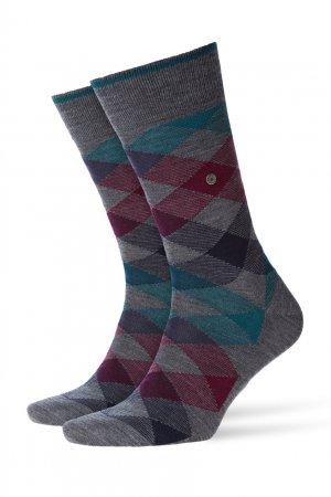 Серые шерстяные носки Newcast Burlington. Цвет: серый