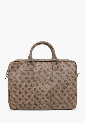 Сумка Guess для ноутбука 15 4G, Uptown Bag PU Brown. Цвет: коричневый