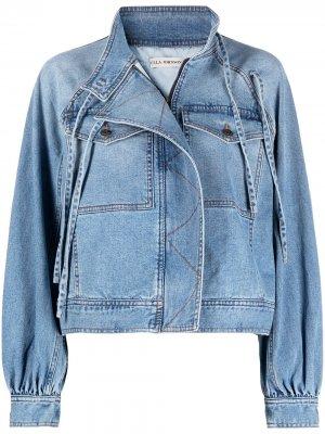 Джинсовая куртка с завязками на плече Ulla Johnson. Цвет: синий