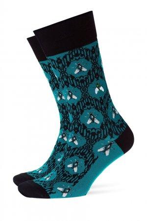 Бирюзовые носки Fly Baroque Burlington. Цвет: бирюзовый