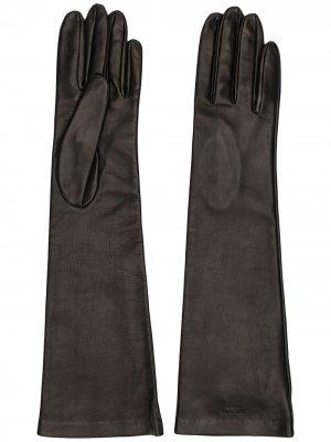 Перчатки длины миди Rochas. Цвет: коричневый